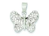 Sterling Silver Stellux Crystal Butterfly Slide style: QP1384