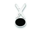 Sterling Silver Onyx Pendant - Chain Included style: QP191