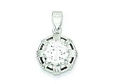 Sterling Silver Cubic Zirconia Pendant - Chain Included style: QP2759