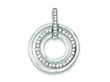 Sterling Silver Cubic Zirconia Fancy Pendant Necklace - Chain Included style: QP764