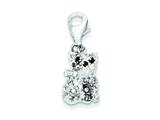 Sterling Silver Cubic Zirconia Cat Charm style: QP942