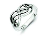 Sterling Silver Antiqued Knot Ring style: QR1774