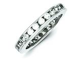 Sterling Silver Cubic Zirconia Eternity Band style: QR1966
