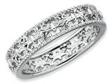 Stackable Expressions Sterling Silver Polished Fleur De Lis Stackable Ring style: QSK129