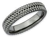 Stackable Expressions Sterling Silver Black-plated Stackable Ring style: QSK309