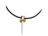Sentimental Expressions(tm) Sterling Silver and Gold Plated No Greater Love Nail 18 Inch Necklace style: QSX113