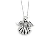 Sentimental Expressions(tm) Sterling Silver Antiqued Angel of Remembrance 18 Inch Necklace style: QSX159