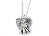 Sentimental Expressions(tm) Sterling Silver Antiqued Angel of Faith 18 Inch Necklace style: QSX163