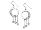 Sentimental Expressions(tm) Sterling Silver and CZ I Promise You the Moon and Stars Dangle Earrings style: QSX209
