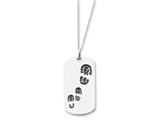 Sentimental Expressions(tm) Sterling Silver Antiqued Footsteps 18 Inch Dog Tag Necklace style: QSX231