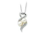 Sentimental Expressions(tm) Sterling Silver 2 P`s in a Pod Motherhood/ Friendship 18 Inch Necklace style: QSX236