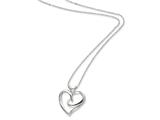 Sentimental Expressions(tm) Sterling Silver The Hugging Heart 18 Inch Necklace style: QSX259