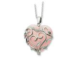 Sentimental Expressions(tm) Sterling Silver and Rose Quartz Generous Heart 18 Inch Necklace style: QSX263