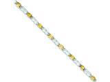 Sterling Silver Citrine Bracelet style: QX205CI