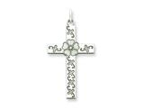 Sterling Silver Laser Designed Cross Pendant Necklace - Chain Included style: QXR190