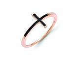 14k Rose Gold Antiqued Sideways Cross Ring style: R1786
