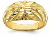 """Finejewelers 14k Yellow Gold Bright Cut Curved """"x"""" Engraved Solid Dome Charm style: R708"""