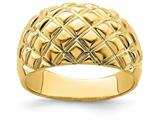 Finejewelers 14k Yellow Gold Basket Weave Pattern Dome Charm style: R723