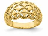 Finejewelers 14k Yellow Gold Diamond Pattern with Scallop Edge Charm style: R724