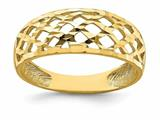 Finejewelers 14k Yellow Gold Solid Bright Cut Wave Pattern Dome Charm style: R751
