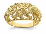 Finejewelers 14k Yellow Gold Starfish with Multi Shell Combination Dome Ring style: R834