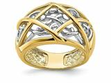 Finejewelers 14k Yellow Gold Criss Cross Pattern Vines Ring style: R899