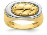 Finejewelers 14k Yellow Gold Yellow Shrimp Top Offset In White Oval Ring style: R909