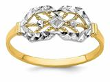 Finejewelers 14k Yellow Gold Bright Cut Double Octagon with Marquise Center Rings style: R941