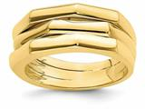 Finejewelers 14k Yellow Gold Ridged Three Rideged Dome Rings style: R943