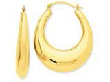 14k Polished Hoop Earrings style: S1512