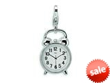 Amore LaVita™ Sterling Silver 3-D Alarm Clock w/Lobster Clasp Bracelet Charm style: QCC261