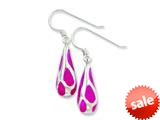 Finejewelers Sterling Silver Pink Resin Raindrop Earrings style: QE1582