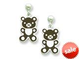 Sterling Silver Teddy Bear Resin Earrings style: QE5664