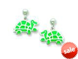 Sterling Silver Turtle Resin Earrings style: QE5665