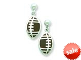 Sterling Silver Football Resin Earrings style: QE5667