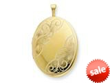 1/20 Gold Filled 20mm Swirled Oval Locket Necklace - Chain Included style: QLS295