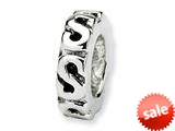 Reflections™ Sterling Silver Swirl Spacer Bead / Charm style: QRS124