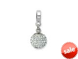 Reflections™ Sterling Silver April Swavorski Crystal Ball Dangle Bead / Charm style: QRS1253APR