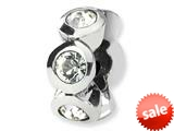 Reflections™ Sterling Silver April Swarovski Crystal Birth Month Bead / Charm style: QRS1262APR