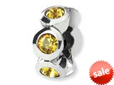 Reflections™ Sterling Silver November Swarovski Crystal Birth Month Bead / Charm style: QRS1262NOV