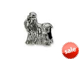 Reflections™ Sterling Silver Shih Tzu Bead / Charm style: QRS1276