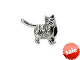 Reflections™ Sterling Silver American Shorthair Cat Bead / Charm style: QRS1277