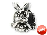 Reflections™ Sterling Silver Bunny with Basket Bead / Charm style: QRS1289