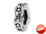 Reflections™ Sterling Silver Floral Spacer Bead / Charm style: QRS129