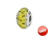 Reflections™ Sterling Silver Yellow/Green/White Swirl Glass Bead / Charm style: QRS1307