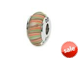 Reflections™ Sterling Silver Multi-color Hand-blown Glass Bead / Charm style: QRS1348
