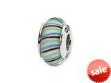 Reflections™ Sterling Silver Multi-color Hand-blown Glass Bead / Charm style: QRS1370