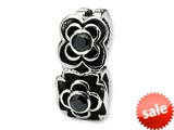 Reflections™ Sterling Silver Black CZ Connector Bead / Charm style: QRS138