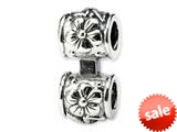Reflections™ Sterling Silver Floral Connector Bead / Charm style: QRS143