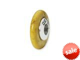 Reflections™ Sterling Silver Yellow Maganasite Stone Bead / Charm style: QRS1699